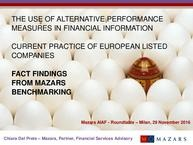 Mazars Benchmarking APM: key findings