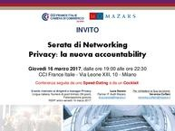 Serata di Networking Privacy: la nuova accountability - invito
